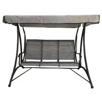 3 Seat Gray Outdoor Patio Swing