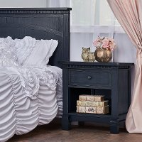 830-DN Distressed Navy 1-Drawer Nightstand - Santa Fe