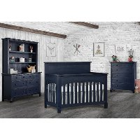 831-DN Distressed Navy  5-in-1 Convertible Crib - Santa Fe
