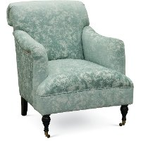 Traditional Aqua Accent Chair - Elizabeth