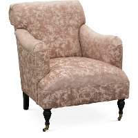 Traditional Blush Accent Chair Elizabeth Rc Willey