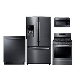 Genial ... PACKAGE Samsung 4 Piece Kitchen Appliance Package With Gas Range    Black Stainless Steel ...