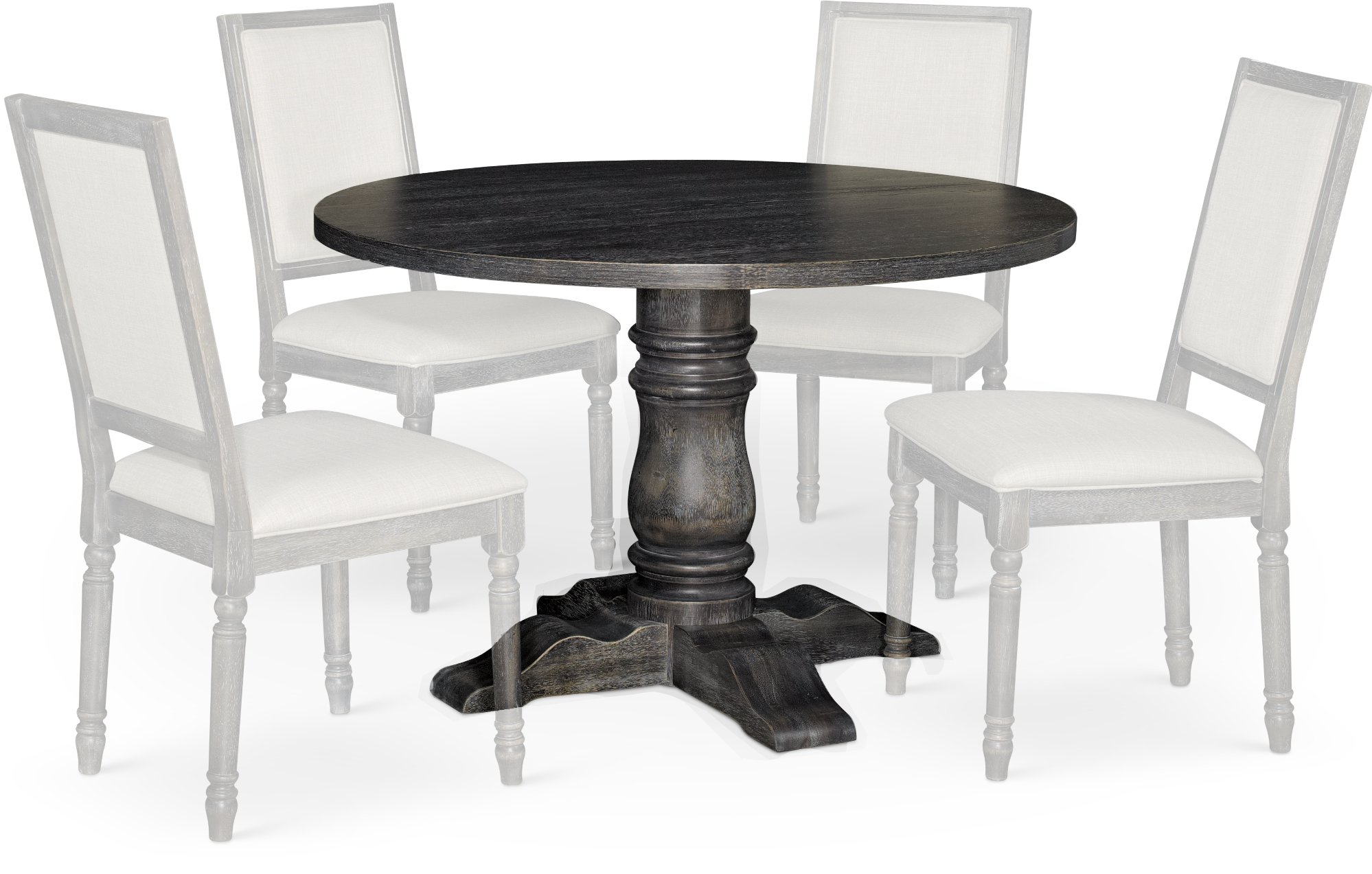 Dove Gray 5 Piece Dining Set with Round Table Muses RC  : Dove Gray Round Dining Table Muses rcwilley image1 from rcwilley.com size 2000 x 1273 jpeg 341kB