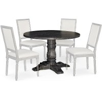 Dove Gray Round Dining Table - Muses