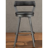 Gunmetal and Black Modern Bar Stool - Appert