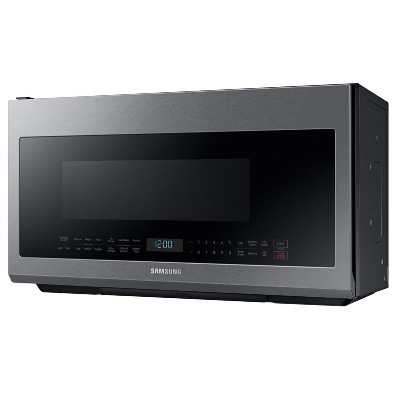 Samsung 30 Inch Stainless Steel 2 1 Cu Ft Over The Range Microwave With Sensor Cook And Ceramic Enamel Interior Rc Willey Furniture