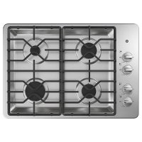 JGP3030SLSS GE 30 Inch Gas Cooktop with 4 Sealed Burners - Stainless Steel
