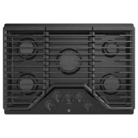 JGP5030DLBB GE 30 Inch Gas Cooktop with 5 Burners - Black
