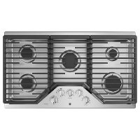 PGP7036SLSS GE Profile 36 Inch Gas Cooktop with MAX Burner System - Stainless Steel
