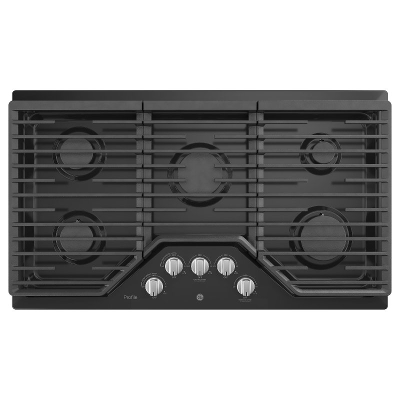 Ge Profile 36 Inch Gas Cooktop With Max Burner System Black Rc Willey Furniture
