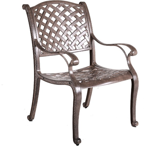 Outdoor Patio Dining Chair   Mayfield5999 Brown Patio Arm Chair   Castle  Rock