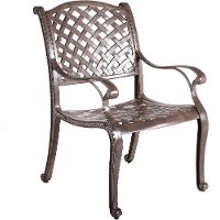 Light Brown Patio Arm Chair - Castle Rock