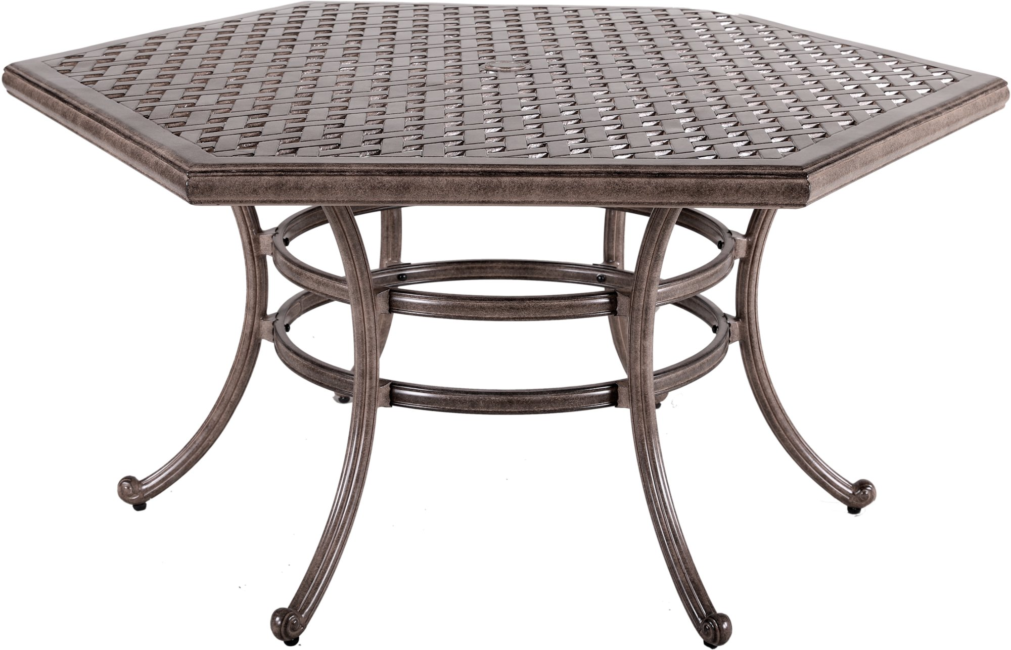 5 Piece Brown Outdoor Patio Dining Set