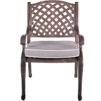 Brown Patio Chair and Cushion - Castle Rock