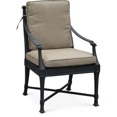 Black and Tan Outdoor Patio Arm Chair - Antioch