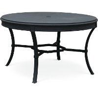 54 Inch Black Round Outdoor Patio Dining Table - Antioch