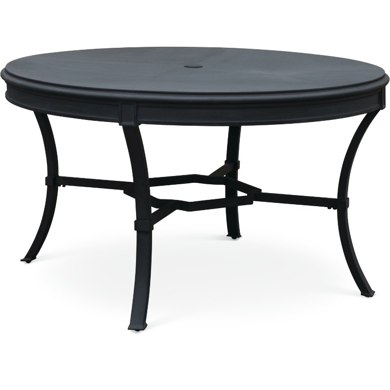 Blue Gray Round Outdoor Patio Table