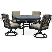 5 Piece Outdoor Patio Dining Set with Swivel Chairs - Antioch