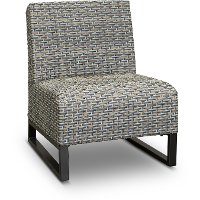 Wicker Slipper Patio Chair - Del Mar