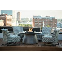 Blue 5 Piece Fire Pit Set - Del Mar