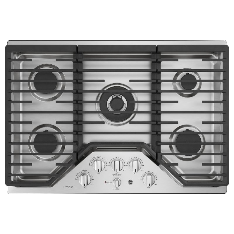 Pgp9030slss Ge Profile 30 Inch 5 Burner Gas Cooktop Stainless Steel