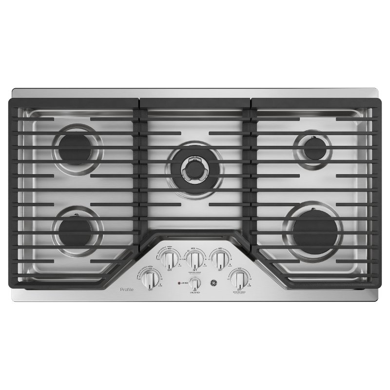 Pgp9036slss Ge Profile 36 Inch Gas Cooktop With Optional Extra Large Integrated Griddle