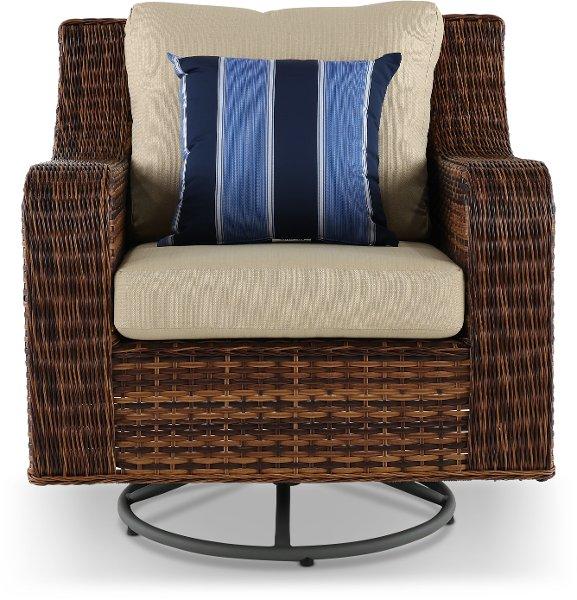 12c057awsv Linen Swv Swivel Outdoor Patio Wicker Chair Tortola