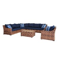 4PC/TORTOLA/NAVY/SEC 4 Piece Outdoor Patio Sectional Sofa - Tortola