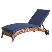 WL-6204A-W4/NAVY/CS Navy Patio Chaise Lounge Chair - Appia