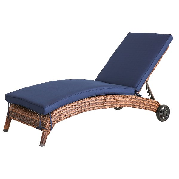 ... WL 6204A W4/NAVY/CS Navy Patio Chaise Outdoor Lounge Chair