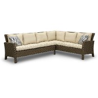 2PC/ARCADIA/LINEN/SC 2 Piece Outdoor Sectional Sofa - Arcadia