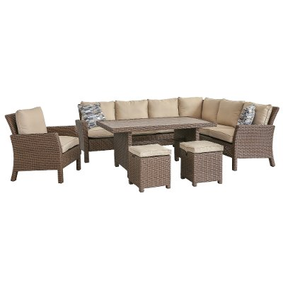 4PC/ARCADIA/LINEN 4 Piece Outdoor Patio Furniture Set   Arcadia