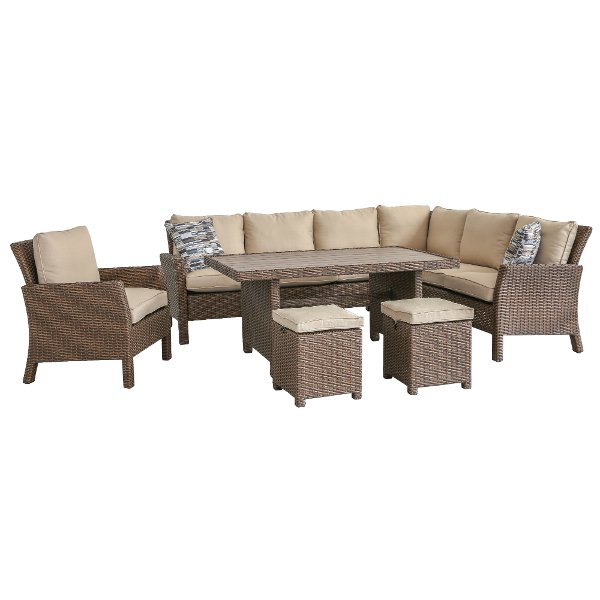 4pc Arcadia Linen 4 Piece Outdoor Patio Furniture Set
