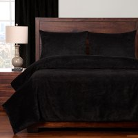Black Padma Night 4 Piece Queen Bedding Collection