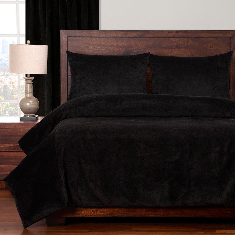 Black Padma Night 4 Piece Queen Bedding Collection