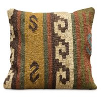 Multi Color Kilim 20 Inch Throw Pillow