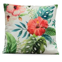 Printed Flower Throw Pillow