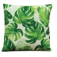 Printed Flower Filled Throw Pillow