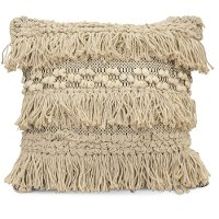 Neutral Moroccan Style Throw Pillow