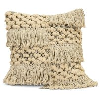 Neutral Moroccan Styled Throw Pillow