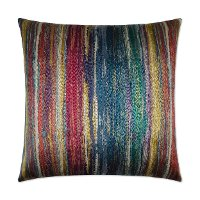 Multi Color Roy G Biv Carnival Throw Pillow