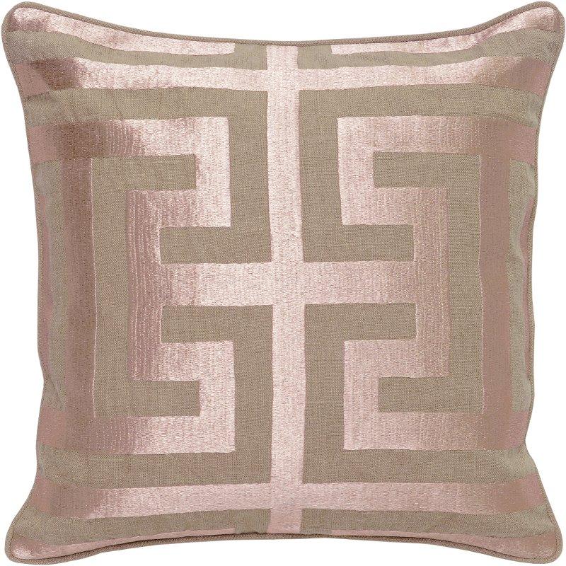 rose gold throw pillows Capital Rose Gold Linen Throw Pillow   RC Willey Furniture Store rose gold throw pillows