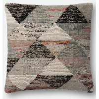 Gray and Multi Color 22 Inch Throw Pillow