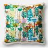 Clearance Multi Color Floral 22 Inch Throw Pillow