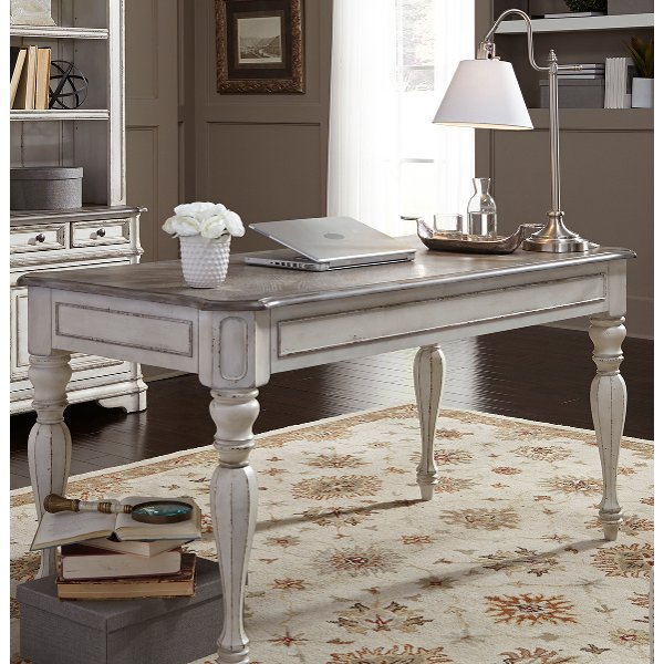 Antique White Writing Desk Magnolia Manor