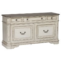 Antique White Cabinet - Magnolia Manor
