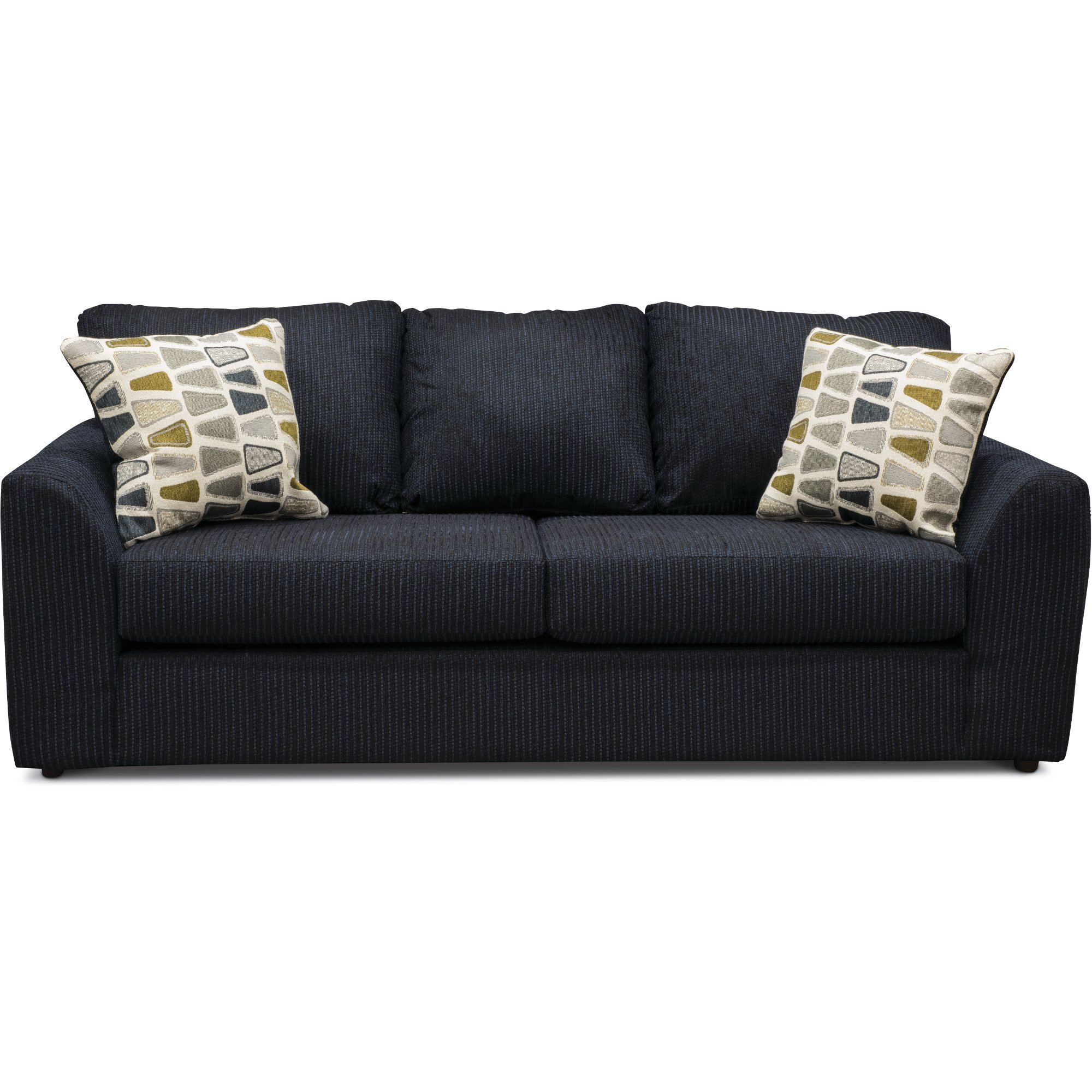 Casual Contemporary Dark Blue Sofa   Hannah   RC Willey Furniture Store