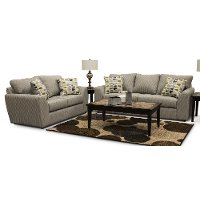 Casual Contemporary Gray Sofa & Loveseat Set - Hannah