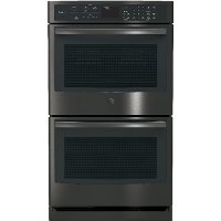PT7550BLTS GE Profile Series Built-In Double Convection Wall Oven - Black Stainless Steel