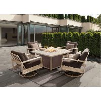 5PC:FRISCO/FIRECHAT 5 Piece Outdoor Patio Fire Pit Set - Frisco